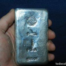 Antigüedades: LINGOTE DE PLATA PURA 1KG 1000 G , ACUÑACIONES ARTESANAS B , SILVER. Lote 114541271