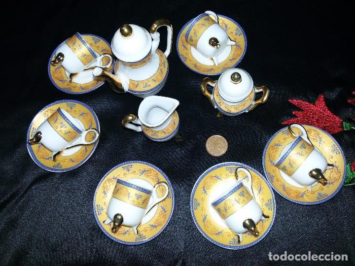 ANTIGUO JUEGO DE CAFÉ MINIATURA-PORCELANA (Antigüedades - Porcelana y Cerámica - Alemana - Meissen)