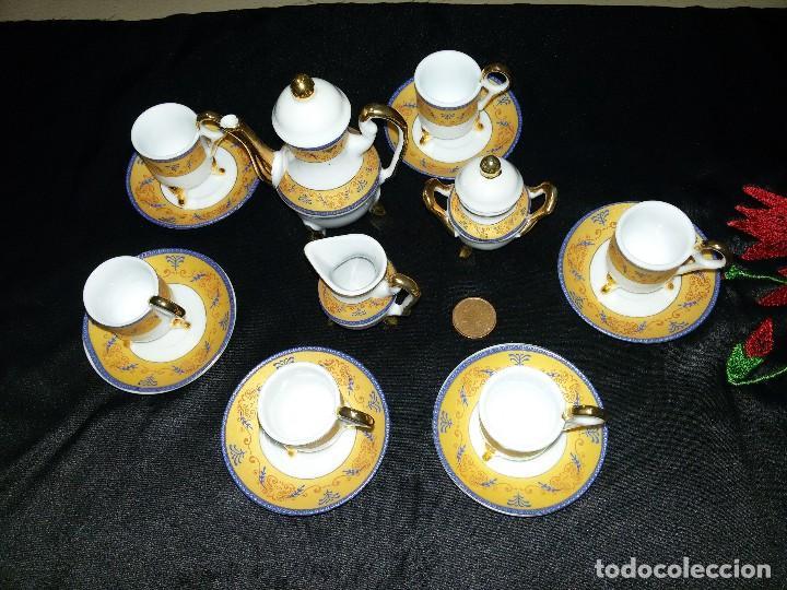Antigüedades: ANTIGUO JUEGO DE CAFÉ MINIATURA-PORCELANA - Foto 2 - 114582763