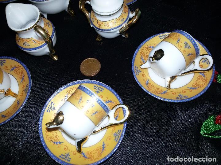 Antigüedades: ANTIGUO JUEGO DE CAFÉ MINIATURA-PORCELANA - Foto 4 - 114582763