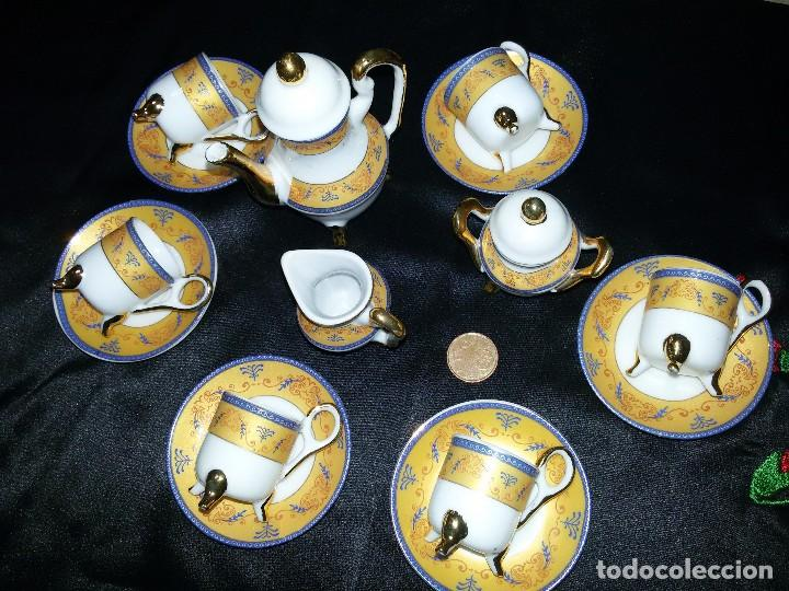 Antigüedades: ANTIGUO JUEGO DE CAFÉ MINIATURA-PORCELANA - Foto 6 - 114582763