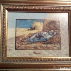 Antigüedades: CUADRO DE PORCELANA GOEBEL ARTIS ORBIS V.VAN GOGH LA SIESTE. Lote 114594307