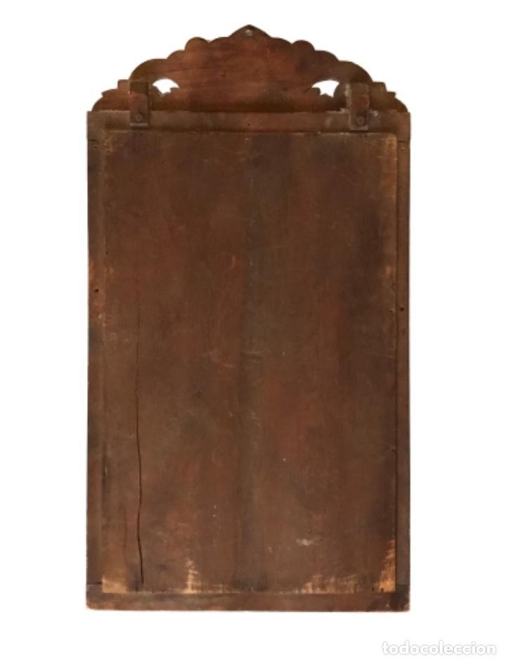 Antigüedades: Antiguo espejo de madera. 60 X 32 - Foto 3 - 114603559