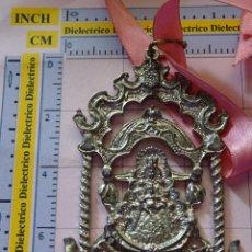 Antigüedades: MEDALLA MEDALLÓN RELIGIOSO. VIRGEN DEL ROCÍO HERMANDAD DE ALCALÁ LA REAL, JAEN. 40 GR. Lote 114603643