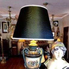 Antigüedades: SOBERBIA PAREJA DE LAMPARAS. Lote 114606659