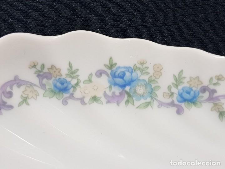 Antigüedades: Fuente / rabanera porcelana Limoges. Dorado pintado a mano. - Foto 4 - 114612491