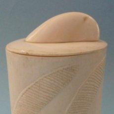 Antigüedades: ANTIGUA POLVERA DE MARFIL PRINCIPIO S.XX. Lote 114616159