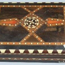 Antigüedades: ANTIGUA CAJA DE TARACEA. GRANADA. Lote 114630939