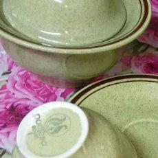 Antigüedades: SOPERA, JUEGO CAFÈ, PLATOS POSTRE. Lote 114655831