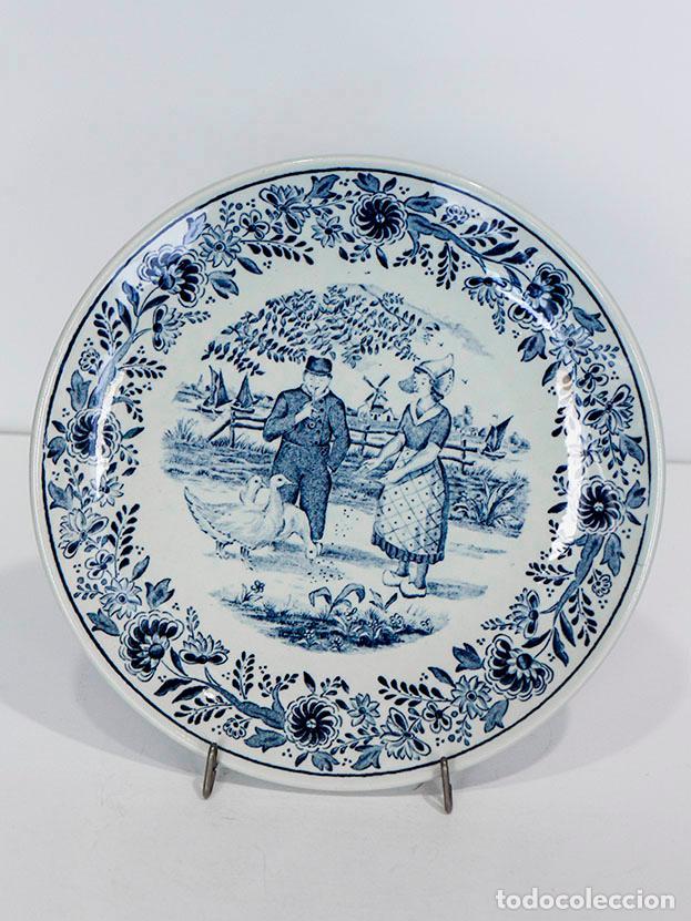 Antigüedades: Plato porcelana Delft - Foto 2 - 114657835
