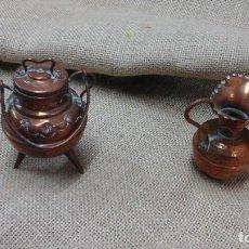 Antigüedades: PAREJA DE PEQUEÑOS JARRONES EN COBRE . PRIMER CUARTO SIGLO XX. Lote 114664307