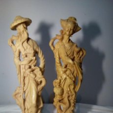 Antigüedades: PAREJA DE FIGURAS ORIENTALES (FENG SHUI). Lote 114666543