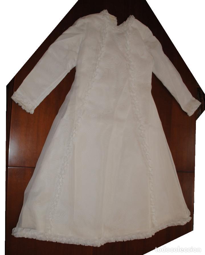Antigüedades: Traje de primera comunión de niña muy elegante. Nuevo a estrenar, años 60-70 - Foto 2 - 114673911