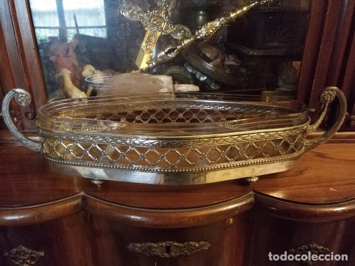 Antigüedades: Rare Wümak Brass & Glass Adolf Knecht Jugendstijl / Art Deco centro de mesa cristal . - Foto 3 - 147379100