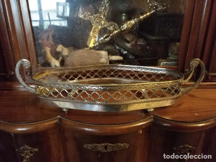 Antigüedades: Rare Wümak Brass & Glass Adolf Knecht Jugendstijl / Art Deco centro de mesa cristal . - Foto 5 - 147379100