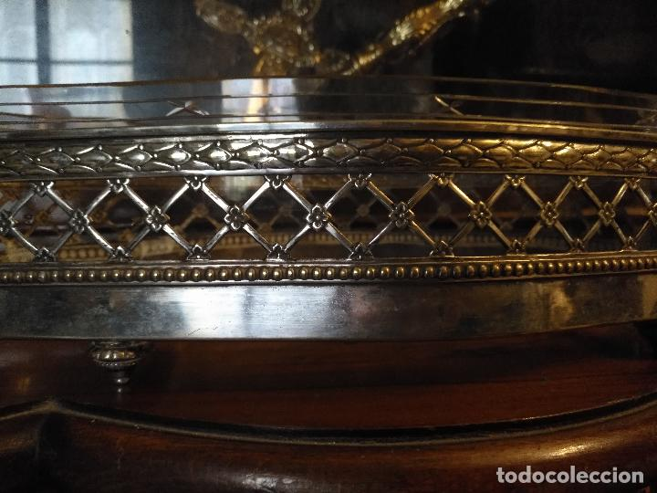 Antigüedades: Rare Wümak Brass & Glass Adolf Knecht Jugendstijl / Art Deco centro de mesa cristal . - Foto 7 - 147379100