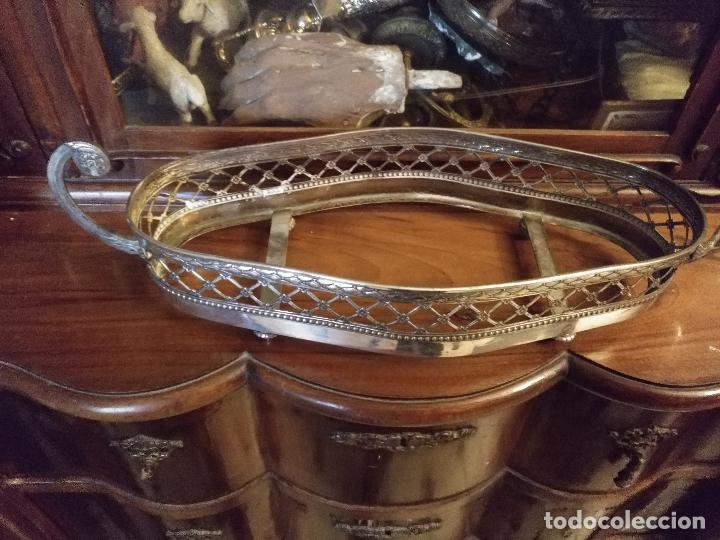 Antigüedades: Rare Wümak Brass & Glass Adolf Knecht Jugendstijl / Art Deco centro de mesa cristal . - Foto 11 - 147379100