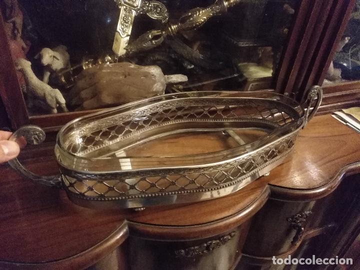 Antigüedades: Rare Wümak Brass & Glass Adolf Knecht Jugendstijl / Art Deco centro de mesa cristal . - Foto 16 - 147379100
