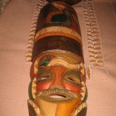 Antigüedades: MASCARA DE MADERA. Lote 114617075