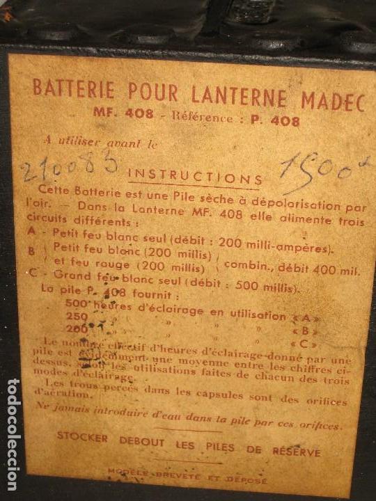 Antigüedades: Farol de mano marca Madec. - Foto 2 - 114686571