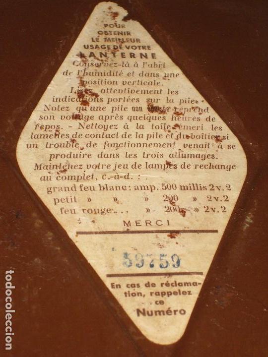 Antigüedades: Farol de mano marca Madec. - Foto 6 - 114686571