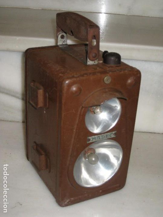 Antigüedades: Farol de mano marca Madec. - Foto 10 - 114686571