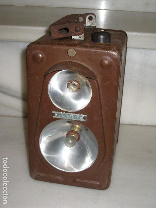Antigüedades: Farol de mano marca Madec. - Foto 15 - 114686571