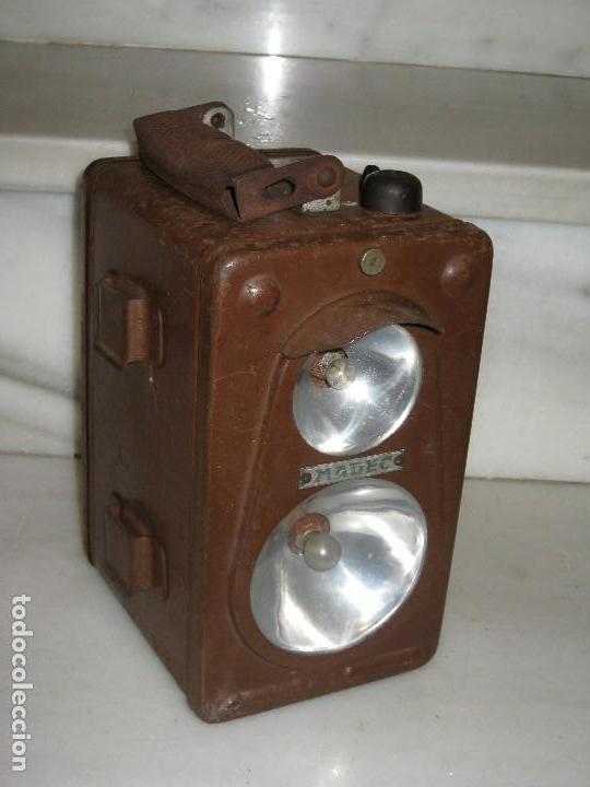 Antigüedades: Farol de mano marca Madec. - Foto 17 - 114686571