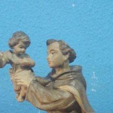 Antigüedades: SAN ANTONIO EN MADERA MACIZA REALIZADO POR LA PRESTIGIOSA CASA BELLOSO. Lote 114702379