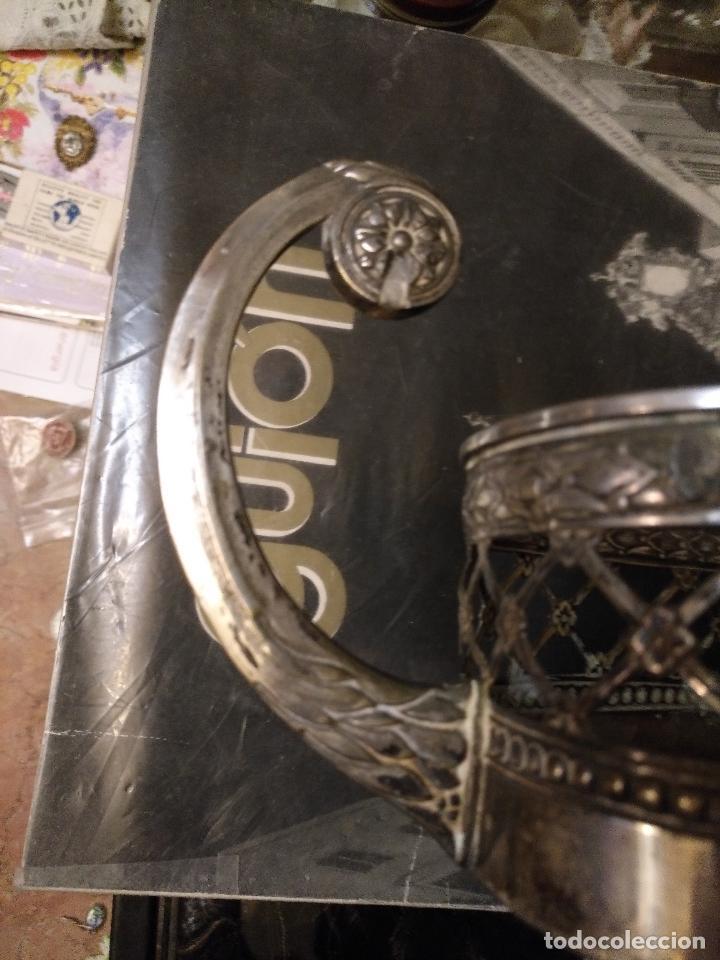 Antigüedades: Rare Wümak Brass & Glass Adolf Knecht Jugendstijl / Art Deco centro de mesa cristal . - Foto 21 - 147379100