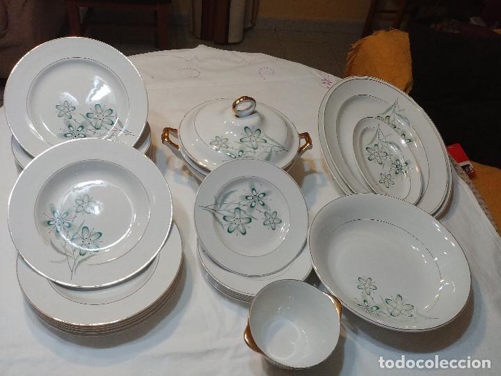 Vajilla de porcelana Vargas Segovia años 60 segunda mano