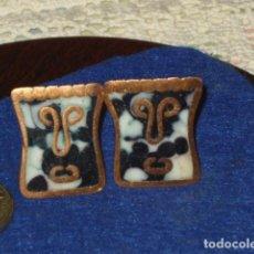 Antigüedades: ANTIGUOS GEMELOS CHAPADOS EN ORO O ORO BAJO.. Lote 114737471