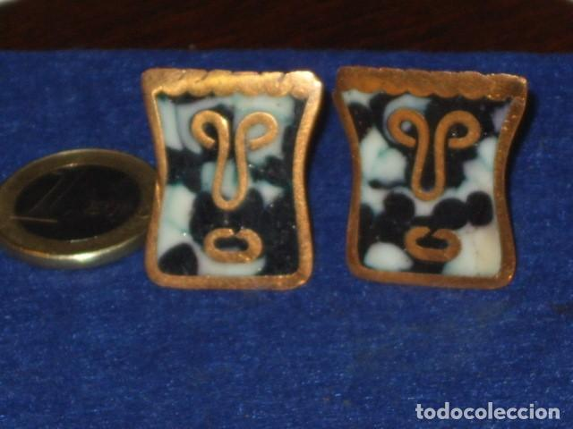 Antigüedades: ANTIGUOS GEMELOS CHAPADOS EN ORO O ORO BAJO. - Foto 2 - 114737471