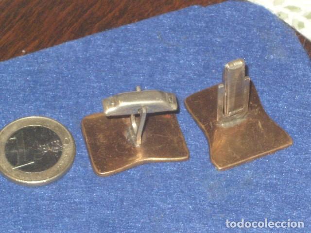 Antigüedades: ANTIGUOS GEMELOS CHAPADOS EN ORO O ORO BAJO. - Foto 6 - 114737471