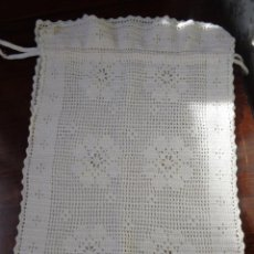 Antigüedades: ANTIGUA BOLSA PAN - DE GANCHILLO - HECHA A MANO - 47 CM X 31 CM . Lote 114746695