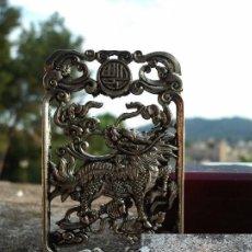 Antigüedades: PRECIOSO COLGANTE DE PLATA TIBETANA UNISEX EN PERFECTO ESTADO. REGALO PAR DE ANILLOS. Lote 133351333
