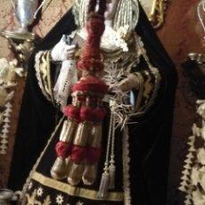Antigüedades: GRAN BORLA ORO Y SEDA ROJA CON CORDON , IDEAL BORLON PARA VIRGEN O NIÑO JESUS, SEMANA SANTA. Lote 114757923