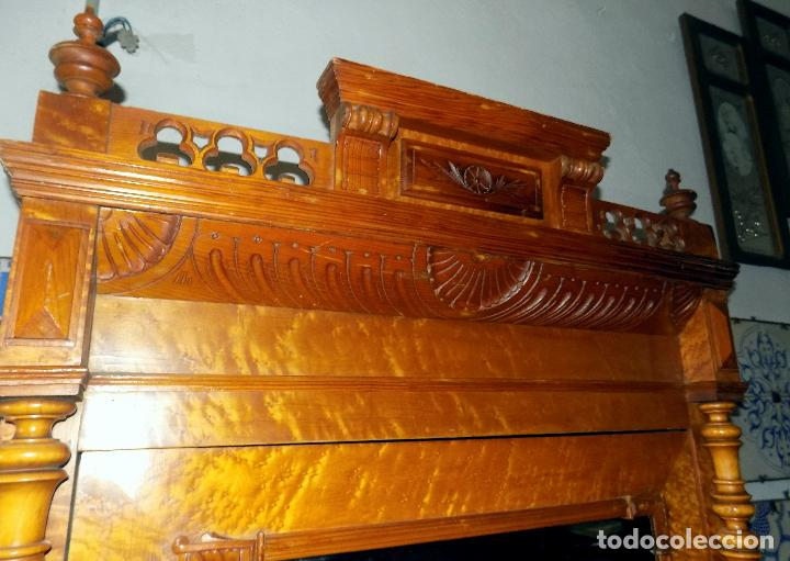 Antigüedades: BONITO ARMARIO, FINALES SIGLO XIX, MADERA DE RAIZ, IDEAL VITRINA - Foto 6 - 114766575
