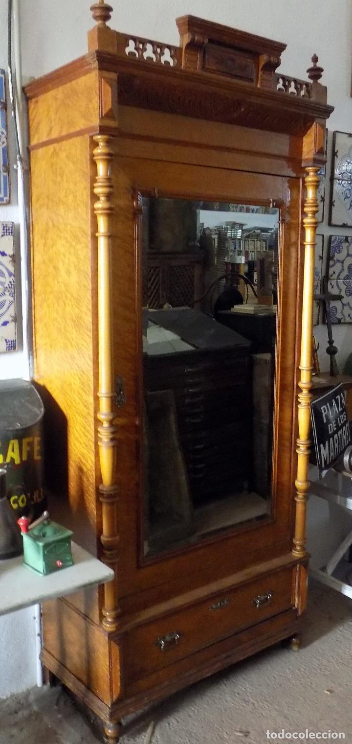 Antigüedades: BONITO ARMARIO, FINALES SIGLO XIX, MADERA DE RAIZ, IDEAL VITRINA - Foto 7 - 114766575