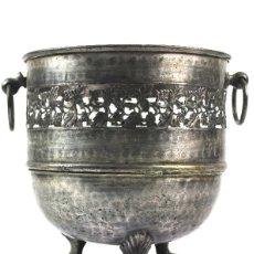 Antigüedades: JARDINERA DE METAL PLATEADO. PRINCIPIOS DEL SIGLO XX. Lote 114770363