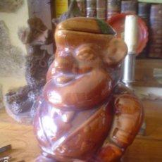 Antigüedades: MUY ANTIGUA JARRA DE VINO ANTIGUA CALDAS PORTUGAL ESTILO BORDALHO PINHEIRO. Lote 114785635
