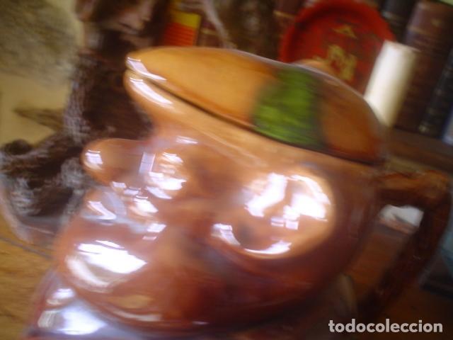 Antigüedades: muy antigua jarra de vino antigua CALDAS portugal estilo bordalho pinheiro - Foto 2 - 114785635