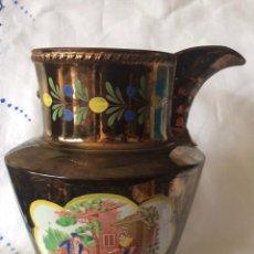 Antigüedades: ANTIGUA JARRA DE REFLEJOS (BRISTOL) FINALES SIGLO XIX ,CON DEFECTOS. Lote 114789699