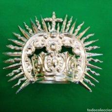 Antigüedades: CORONA DE METAL PLATEADO CON BAÑO DE PLATA (O DORADO) 3 CM DIÁMETRO (NUEVA). Lote 257582930
