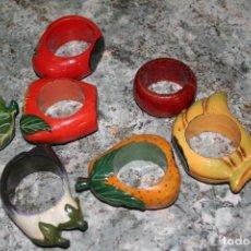 Antigüedades: ANTIGUOS SERVILLETEROS FRUTAS . Lote 114812527