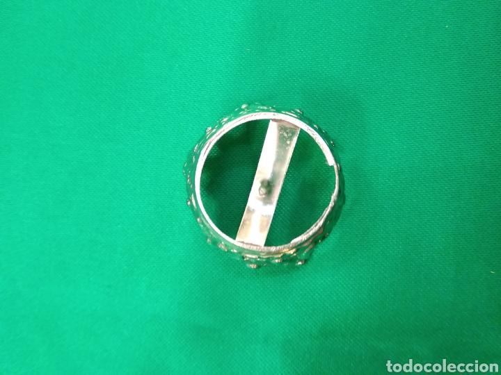 Antigüedades: Corona de metal plateado con baño de plata (o dorado) 2 cm diámetro (nueva) - Foto 8 - 257582880