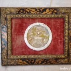 Antigüedades: RELICARIO ANTIGUO CON VARIAS RELIQUIAS, LACRADO. SIGLO XIX.. Lote 114816551