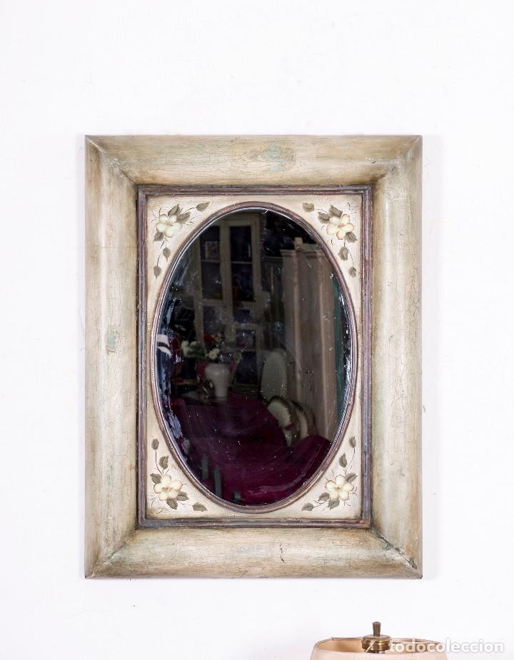 Antigüedades: Espejo Antiguo Restaurado Dalia - Foto 2 - 114818111