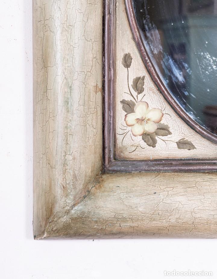 Antigüedades: Espejo Antiguo Restaurado Dalia - Foto 3 - 114818111