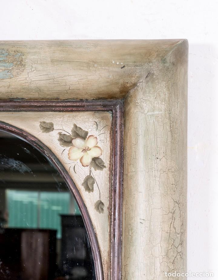 Antigüedades: Espejo Antiguo Restaurado Dalia - Foto 4 - 114818111